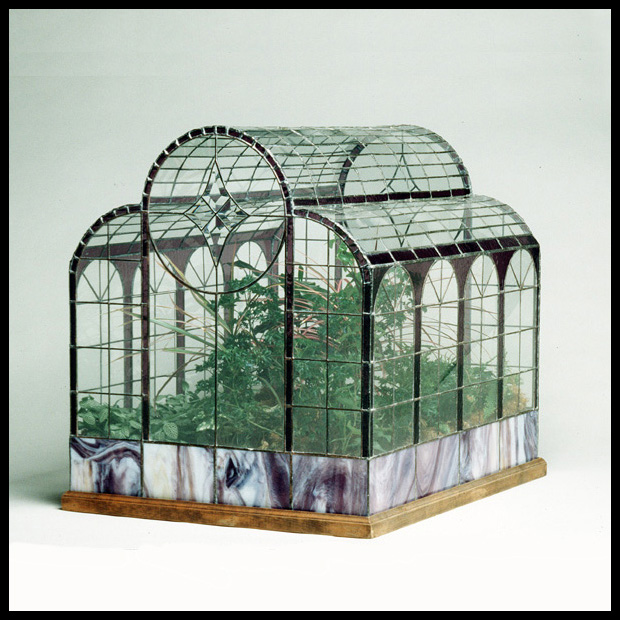Antique Glass Terrarium House